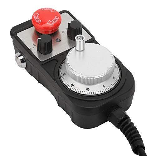 Volante, Volante eléctrico, Tarjeta de control USB, Tarjeta de control USB de 4 ejes Carcasa de aleación de aluminio con función de parada de emergencia Volante eléctrico
