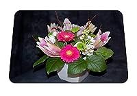 22cmx18cm マウスパッド (ガーベラ花芽花花瓶組成) パターンカスタムの マウスパッド