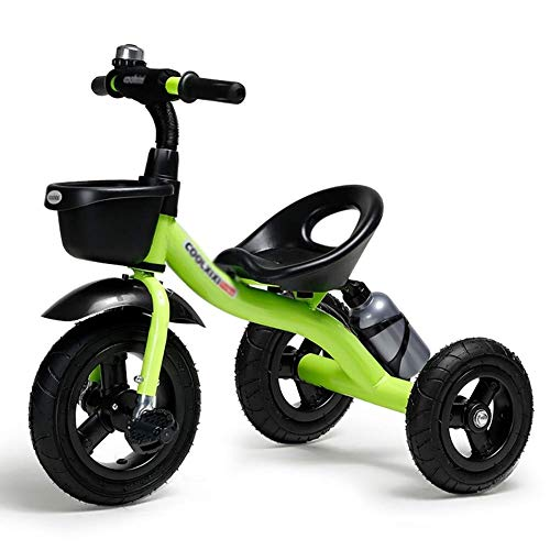 New ZFF Children's Tricycle Rider Trike Kids Baby Bicycle Ride-On Bike , 2-5 Years Old ( Color : Gre...