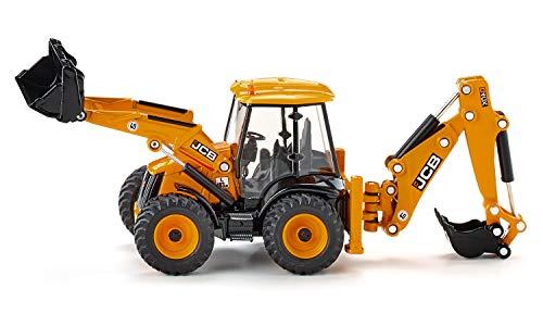 SIKU 3558, JCB 4CX Baggerlader, 1:50, Metall/Kunststoff, Gelb, Viele Funktionen, Kombinierbar mit SIKU Modellen im gleichen Maßstab