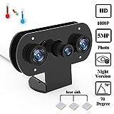 für Himbeer-Pi-Infrarot-Nachtsicht-IR-Kamera mit Acryl-Halter-Fall, Einstellbarer Fokus-Webcam für...