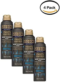 PACK OF 4 - Gold Bond Ultimate Men's Essentials Body Powder Spray, 7oz
