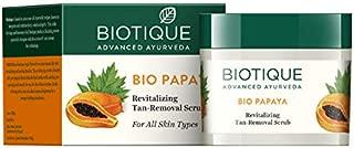 Biotique Bio Papaya Revitalizing Tan Removal Scrub for All Skin Types, 75g