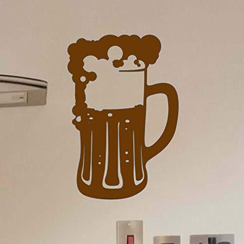 zqyjhkou Jarra de Cerveza Vinilo de Espuma de Cerveza Pegatinas de Pared Impermeables para Cocina Decoración de Arte Papel Pintado Calcomanías Bar Cartel Decoración Murales 2 57X38cm
