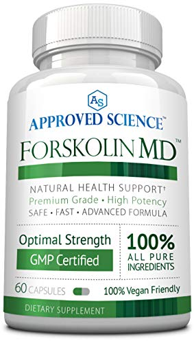 Approved Science® Forskolin MD - Coleus forskohlii Root Extract - 100% Natural Vegan Ingredients - 60 Count - 1 Month Supply