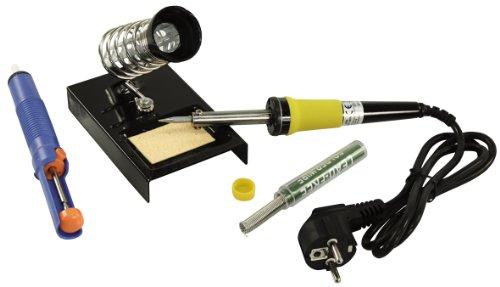 McVoice LS-303 Kit de soudure avec fer à souder, pompe à dessouder et