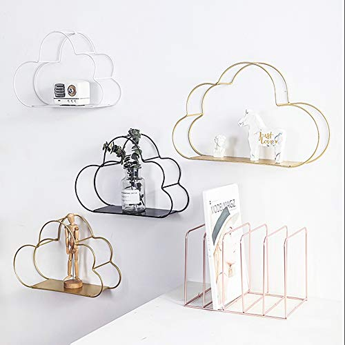 CHENSHJI Wandrek rek muur creatieve ijzer-kunst-wolk decoratie rand hangende kamerdecoratie wandplank
