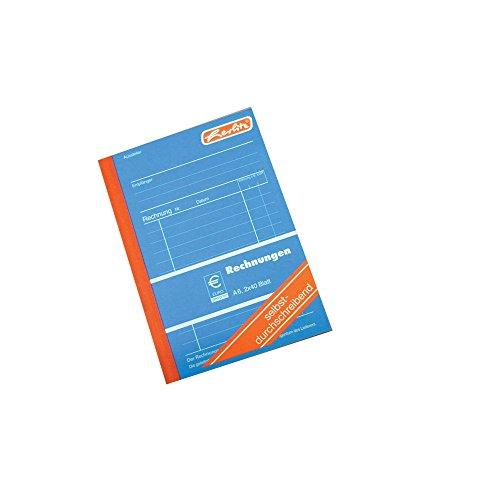 Herlitz 888552 Rechnungsbuch A6, 2 x 40 Blatt, selbstdurchschreibend, 5 Stück