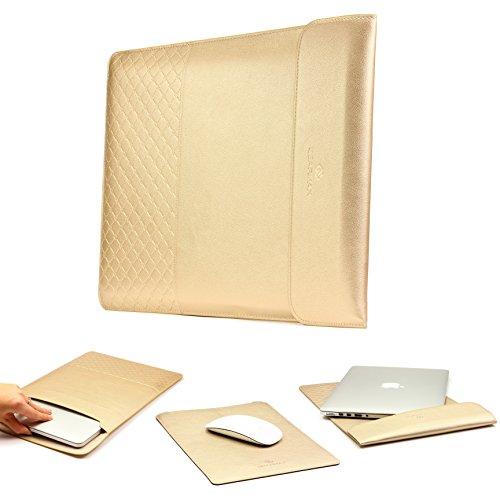 Urcover UNIVERSAL Ultra Thin 15 Zoll (47 cm) Mac-Book Tasche Hülle Sleeve   Gold   Notebook Cover Laptop Case Ultrabook Schutztasche Tablet Etui für MacBook Pro UVM.