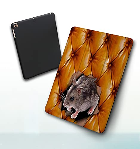 Funda para iPad 9,7 Pulgadas, 2018/2017 Modelo, 6ª / 5ª generación,Ripped out Orange Sofa Hamster, Smart Leather Stand Cover with Auto Wake/Sleep