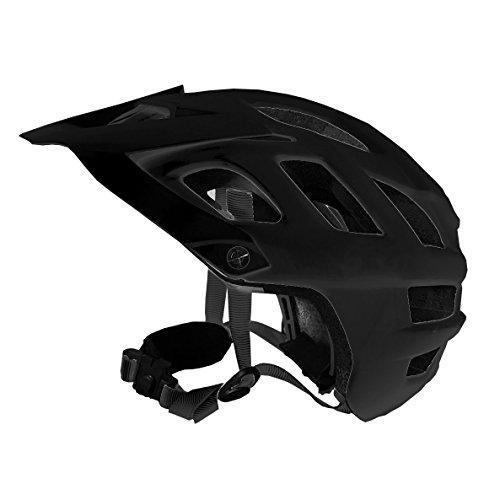 MFI Explorer - Casco bici Bluetooth ideale per Mountanbike (Black, Medium)