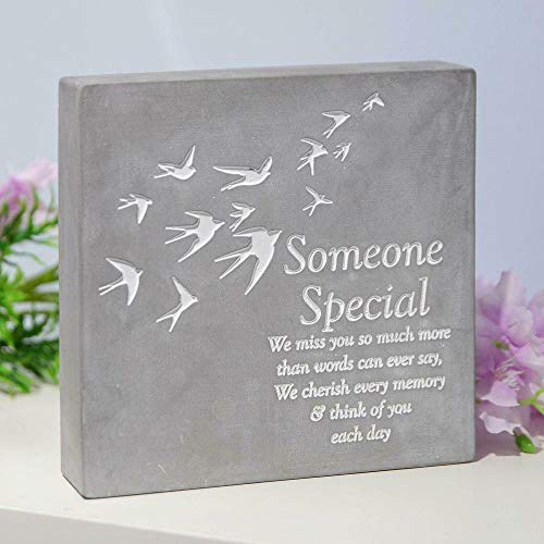 Thoughts of you Someone Special Concrete Stone Remembrance Graveside Memorial Ornament