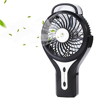 iKKEGOL Mini Portable Wireless Rechargeable Super Strong Wind Desk Fan W/ Rechargeable Battery - 3 Mode Wind Speed Adjustable