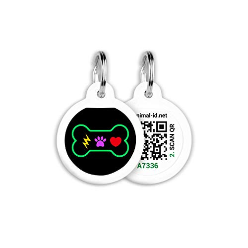 Tags for Dogs - Small Dog Tag & Cat Tag - Pet Id Tag - Scannable QR Code Pet Tags for Location - Cat Id Tag & Dog Id Tag with Online Profile - Funny Dog Tags - Tags for Your Pets