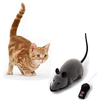 Bebester Jouet de souris à télécommande électronique sans fil pour rat Souris mobile pour chats, chiens, animaux domestiques, jouet infrarouge réaliste pour rat pour enfants, cadeau amusant