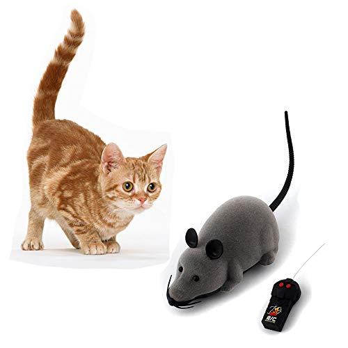 Bebester Ferngesteuerte Maus Spielzeug, kabellose elektronische Rattenmaus, Spielzeug für Katzen, Hunde, Haustiere, Infrarot-RC, realistisches Rattenspielzeug für Kinder, lustiges Geschenk
