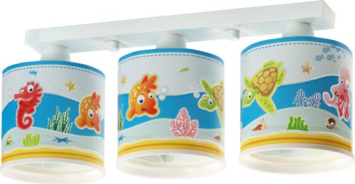 Aquarium Deckenlampe Dalber 60333 Clownfisch Seepferdchen Schidkröte Lampe Kinder Zimmer