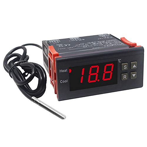 Nrpfell 220V Incubadora Del Termostato Del Huevo 10A Que Cultiva el Regulador de Temperatura Del Regulador Del Termóstato de la Alta Exactitud