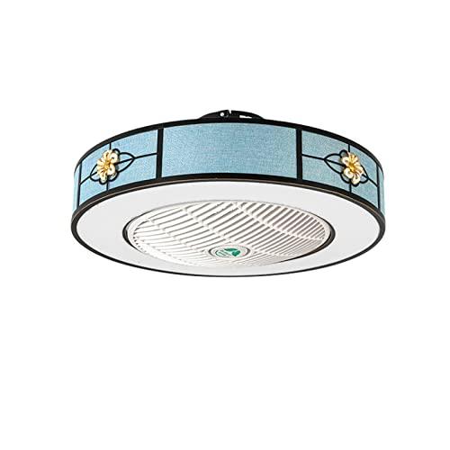 Ventilador de Luz LED Lámpara de Ventilador Estilo Retro con Control Remoto Regulable 3 aspas 72W