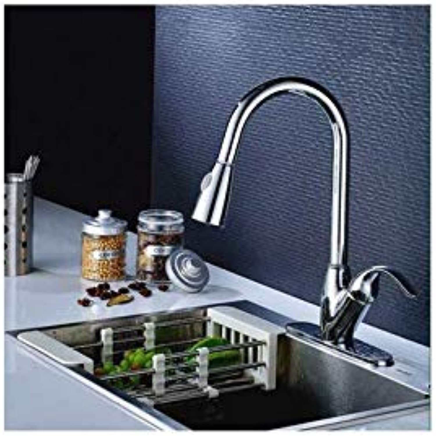 Kitchen Faucet All Around redate Swivel 2-Function Water Outlet Deck Mounted Single Hole with 3 Hole Cover Plate Water