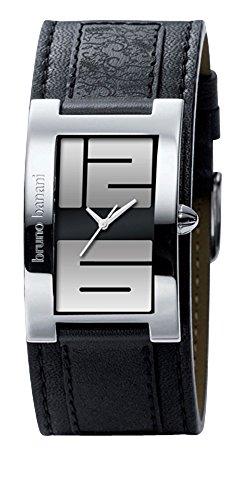 bruno banani Damen-Armbanduhr Analog Quarz mit Lederarmband BR2585 (schwarz)