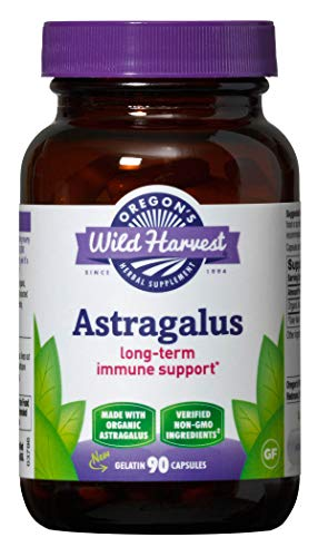 Oregon's Wild Harvest Astragalus Organic Herbal Supplement, 90 Count