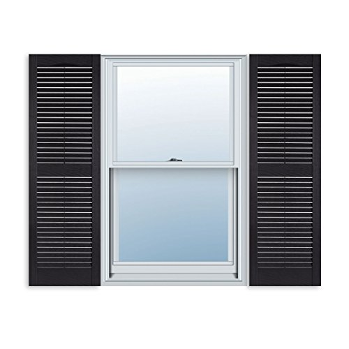 15 Inch x 47 Inch Standard Louver Exterior Vinyl Window