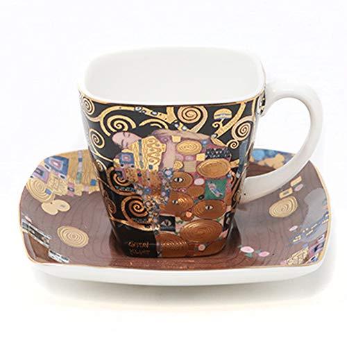 Goebel Artis Orbis Klimt Esspressotasse, Porzellan, Mehrfarbig, 6,5cm