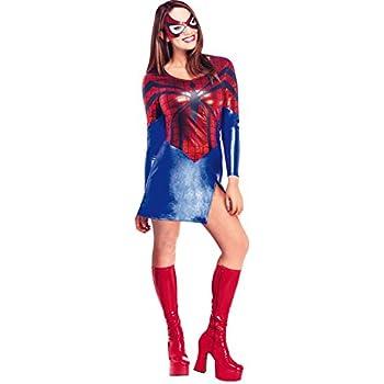 Spiderman - Disfraz de Spidergirl para mujer, Talla M adulto ...