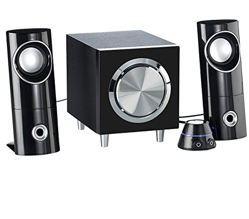 auvisio PC Boxen: Aktives 2.1-Multimedia-Soundsystem mit Subwoofer MSX-220, 32 Watt (2 1 Lautsprecher)