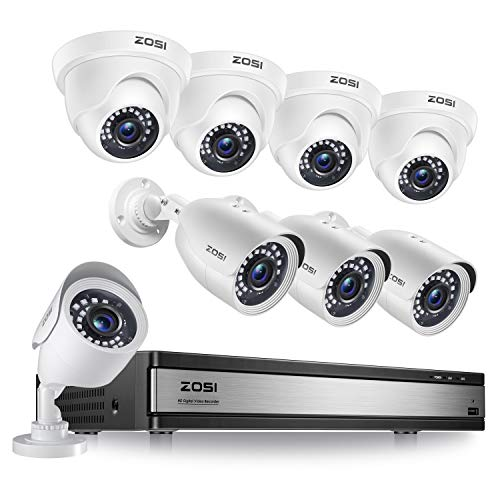 ZOSI H.265+ 1080p 16 Channel Security Camera System, 16 Channel DVR Recorder and 8 x 1080p...