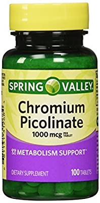 Spring Valley - Chromium Picolinate 1000 mcg, 100 Tablets by Spring Valley