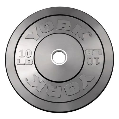 York Barbell Training Bumper Plate Weight: 10 lbs