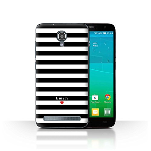 Stuff4Phone Case/Cover/Skin/alcidl2ms/Custom Stripes/Striped Collection Coeur Rayure Noir