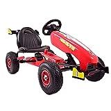 Kinder Go-Kart Formula Speed Cart Red Racer Tretauto Gokart ab 3 Jahren Luftreifen