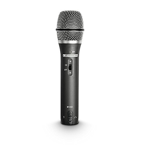 LD Systems D 1 USB Stage/performance microphone Cablato Nero