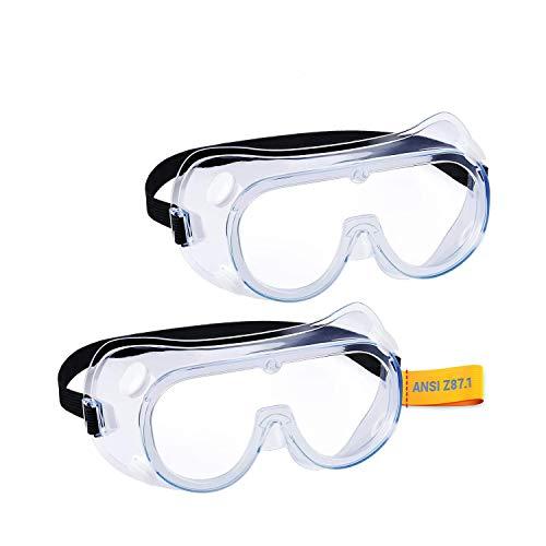 Heden Seger gafas de seguridad protectoras, protección de ojos transparente de cristal suave (1 paquete) ✅