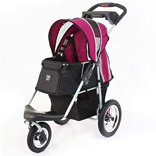 LAZNG Pet Bag Pet Stroller for Katzen/Hunde, Easy One-Hand Falten, Luftreifen, Becherhalter + Storage Basket 3...