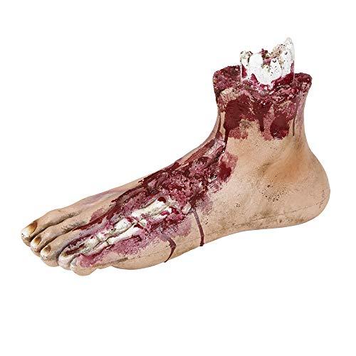 Widmann 00470 - Abgehackter Fuß, Größe circa 25 cm, Körperteil, Dekoration, Halloween