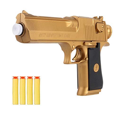 OYJD Spielzeugpistole, goldenes Wüstenadler-Spielzeug-Schaum-Pfeil-Gewehr spielt das für Kinder