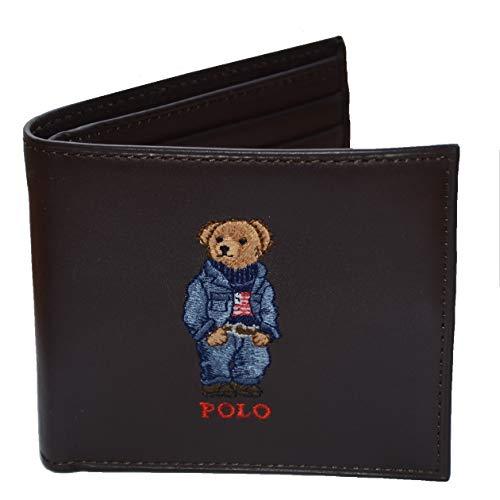 RALPH LAUREN Men's Sailor Wallet Bifold Bear Leather Gift Idea
