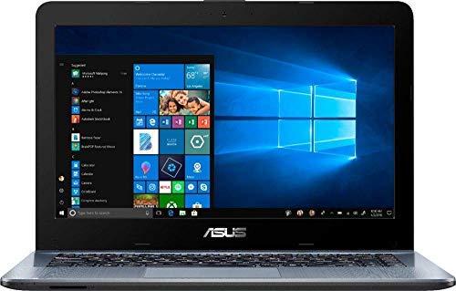 Newest Asus 14'' HD (1366x768) Backlight Display Laptop PC, AMD A6-9225 2.6GHz APU, 4GB DDR4 SDRAM, 500GB Hard Drive, Stereo Speakers, USB 3.0, HDMI, WiFi, Bluetooth, Windows 10, Choose Your SD Card