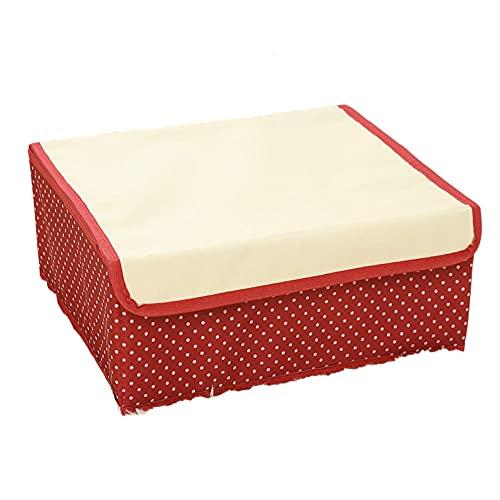 QAZS Caja de Almacenamiento Cajones con Tapa, Canasta Plegable Ropa Cama Armario Tapa Cubos Apilables para Toalla Juguetes