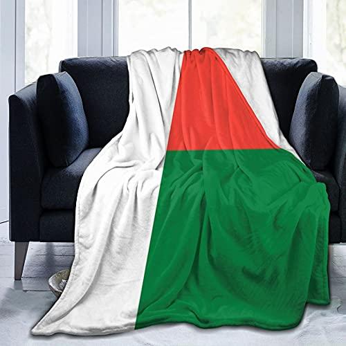 Flanelldecke Flagge von Madagaskar, flauschig, bequem, warm, leicht, weich, Überwurf für Sofa, Couch, Schlafzimmer