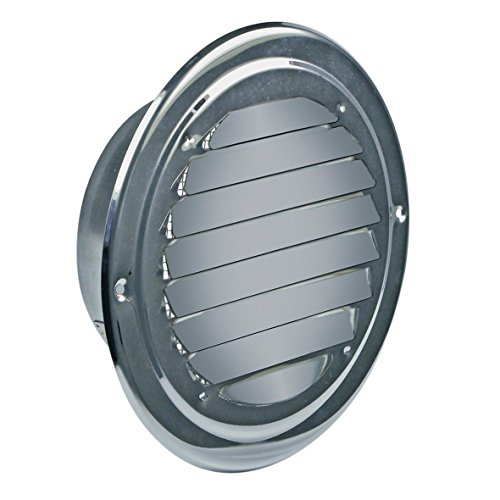 VIOKS Abluft Haube Lufthaube Lüftung Aussenhaube Aussengitter Anschluss: 150mm mit: Insektenschutz für Dunstabzugshaube Klimagerät oder Trockner