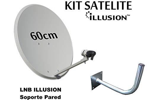 Kit Antena PARABOLICA 60cm Marca Tecatel + Soporte
