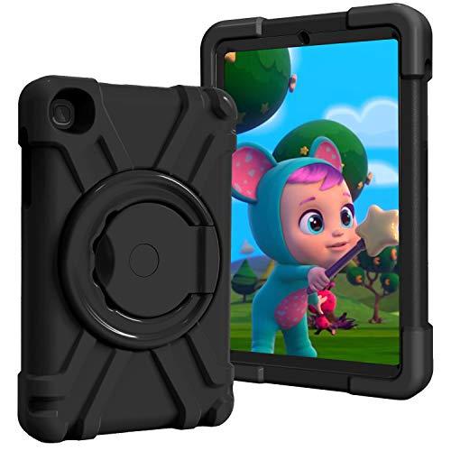 Funda para Samsung Galaxy Tab A 8.4 pulgadas 2020/SM-T307 niños Tablet Case - Doble capa a prueba de golpes mango giratorio soporte de cuerpo completo