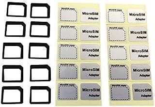 NanoSIM 変換アダプター 10個セットFor iPhone 4S 4 ドコモ スマートフォン NanoSIM→MicroSIM 変換アダプター (ブラック)