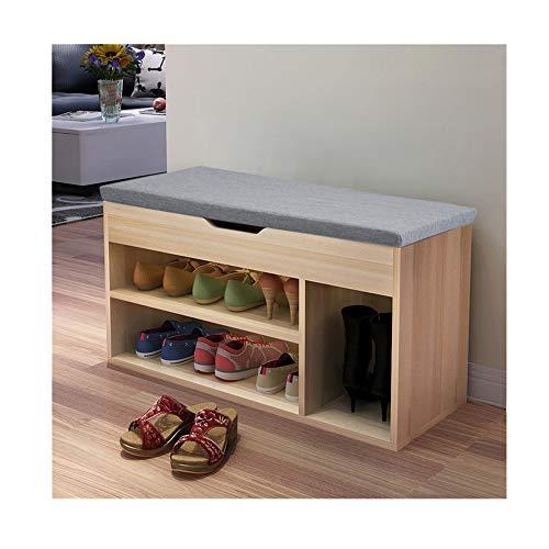 Kimanli Simple Modern Shoe Storage Stool Fashion Sofa Bench Change Shoe Bench Shoe Rack Space-Saving Wardrobe Storage Cabinet Chests organizer portable