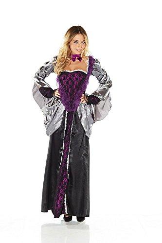 shoperama Damen-Kostüm Evil Queen Schwarz/Lila Böse Stiefmutter Königin Märchen Maleficent, Größe:L/XL